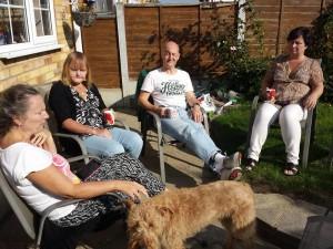 Listen members enjoying the sunshine